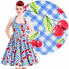 Hell Bunny August Cherry Dress Rockabilly Pin Up Vintage 50s Retro Cherries
