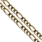 Gold Plated Figaro Chain 5mm New Solid Link Necklace