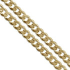 Gold Plated Stainless Steel Curb Chain 5.9mm New Solid Cuban Link Necklace