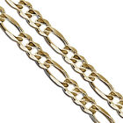 Gold Plated Figaro Chain 6.6mm New Solid Link Necklace