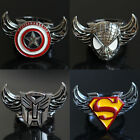 Fashion Jewelry 10 Styles Movie Symbol Turned Charms Alloy Ring Size-9 Unisex