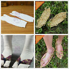 Lucky Cosplay Fashion Beach Straw Sandals Slipper with 2 Finger Toe Socks