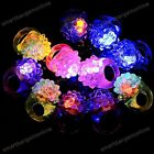 5pc LED Flashing Light Up Soft Jelly Blinking Party Favors Rave Glow Finger Ring