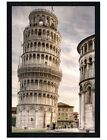 Black Wooden Framed Leaning Tower Of Pisa Maxi Poster 61x91.5cm