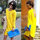 New Fashion Women Long Sleeve Mini Dress Cocktail Evening Party Casual Dress AU