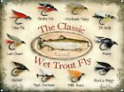 New The Classic Wet Trout Fly Metal Tin Sign