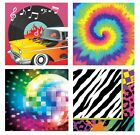 Decade Themed PARTY LUNCHEON NAPKINS - Pack of 16 (50s/60s/70s/80s)