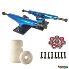 Pro Skateboard Trucks KIT Set blank Wheel Bearings Hardware full 5.25 Blue