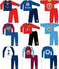 Official Football Club Boys Pyjamas long Leg sizes From 12 Months-10 Years