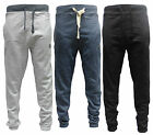 MENS FASHION JOGGER LEISURE/ACTIVEWEAR GYM TRAINING BLACK DENIM GREY CUFFED HEM