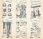 Beer Making Retro Patent Brewery Posters Wall Art Gifts For Craft Beer Lovers