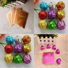 100pcs  Square Foil Wrappers Package for Sweets Candy Chocolate Lolly Party