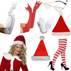 LADIES WOMENS MISS MRS SANTA CHRISTMAS XMAS FANCY DRESS COSTUME ACCESSORIES