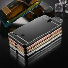 Aluminum Metal Bumper + Mirror PC Case Cover For XiaoMi Redmi Note 2/Mi4/4C/4i