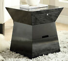 NEW MASON MODERN WHITE BLACK FINISH CHAIR SIDE TABLE NIGHTSTAND w/ DRAWER
