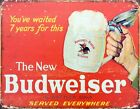 The New Budweiser Red Tin Sign 42x30cm