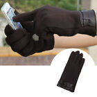 Men's Winter Warm Full Finger Smartphone Touch Screen Cashmere Gloves Mittens OL