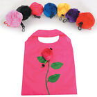 New Fashion Rose Flowers Reusable Folding Shopping Bag Travel Grocery Bags Tote