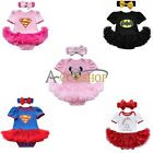 2Pcs Christmas Newborn Baby Girl Romper Dress Jumpsuit Outfits TuTu Clothe Gift