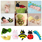 HOT Infant Baby Girl Boy Crochet Knit Costume Clothes Hat Photo Photography Prop