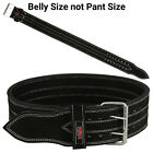 Power Weight Lifting Belts Heavy Duty Leather Gym Fitness Training Belt Black 4""