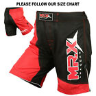 MMA Shorts UFC Grappling Cage Fight Short Muay Thai Kick Boxing Black/Red
