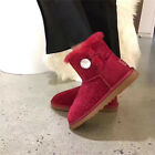 OZLANA Australian Sheepskin Classic UGG boots with Starry & Crystal Button