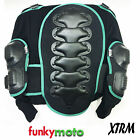 KIDS BODY ARMOUR JACKET BLACK GREEN DEFLECTOR TOP ELASTIC PLASTIC PROTECTION