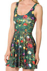 New Fashion Women Christmas Print Summer Skater Clubwear Party Short Mini Dress