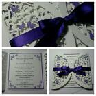 Handmade Wedding Invitation & Inserts: BUTTERFLY semi circle gatefold;60 colours