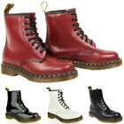 Mens Dr Martens 1460 8 eye lace patent smooth leather ankle boots size UK 8,9,10
