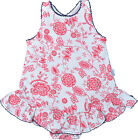 Claesen's Red Floral Cotton Baby Girls Onesie Summer Dress Size 6M, 12M $32 NWT