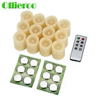 Ollieroo 6/12 Pcs Flameless Led Votive Candles Candle With Remote Timer