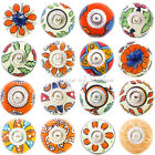 Decorative Boho Bohemian Indian Ceramic Cupboard Cabinet Door Dresser Knobs Pull