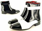 Men's Vintage 20's 30's 40's  Black White Brogue Spats Boots UK Size 6-12