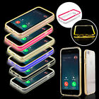 New LED Flash Light UP Remind TPU Incoming Call Cover Case For Apple iPhone 6S/6