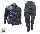 Official US Navy NWU Uniform Blouses & Trousers -Blue Digital Camouflage