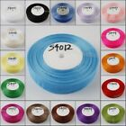 1 roll 50 Yards long  Sheer Organza Ribbon 39mm Wide in Multi-color to Pick