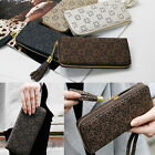 Women's Lady Luxury St. Flower Pattern Zipper Wristlet Wallet Long Purse #D558-1