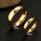 Stainless Steel 18k Gold Filled Polished Comfort Fit Wedding Band Ring M12