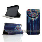 Colorful Painted Pattern PU leather stand Flip Case Cover For iPhone 4 4S 5 5S