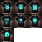 EXO Men T-shirt Short Sleeve Leisure Varnish Neon Glow in Dark