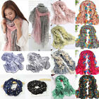 New Womens Pretty Long Soft Chiffon Scarf Wrap Shawl Stole Scarves Mixed Style