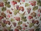 Paul Kaufman Brisbane floral with birds fabric by the yard color cream