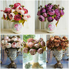 1 Bouquet 8 Heads Vintage Artificial Peony Silk Flower Wedding Home Decor