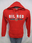 Cornell Big Red Men Medium Hooded Sweatshirt w/ Logo Red NCAA