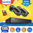 SANNCE 4CH 5IN1 DVR 2 CCTV IR Outdoor Home Security Camera System 1TB Hard Drive