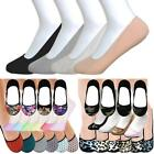 12 Pairs Hidden Shoe Liners Foot Cover Footies No-Show Low Cut Socks Ballet Flat