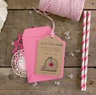 Vintage Bicycle Save The Date Luggage Tags (Pink) with Envelopes - Set of 25