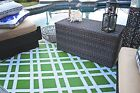 Fab Habitat Indoor Outdoor Patio Rug Mat Dublin~ Lime Green & White, Choose Size